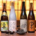 日本酒だけでなく、焼酎も種類豊富に揃えております。全国の名酒を取り寄せています。