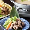 料理メニュー写真地鶏の水炊き鍋