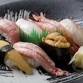 料理メニュー写真にぎり寿司盛合せ特上