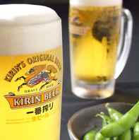 鉄板焼きやもつ鍋などスタミナ料理には、キリンビール!