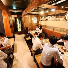 4名名掛けテーブルは、一部結合して最大16名様までの宴会が可能!スタッフが揚げたての天ぷらをテーブル席までアツアツの状態でお届け致します★会社宴会や女子会にもぴったり♪※禁煙席