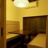 旅館ならではの個室。ベンチソファー席4席