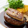 料理メニュー写真フォアグラハンバーグステーキ