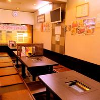 【宴会に◎】16名前後が収容できる掘りごたつ席!!