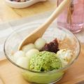 料理メニュー写真白玉ぜんざいアイス