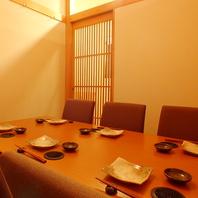 完全個室2~6、6~10名様用のお席がございます。