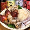店主自ら市場に出向き、新鮮な魚介類を仕入れています!日替わりに変わる四季折々の食材が光る!!