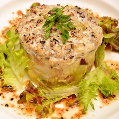 料理メニュー写真根菜とキノコのグラチネ 柚子胡椒ドレッシング