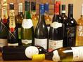 種類豊富なワインがございます。様々飲み比べてお気に入りの一杯を見つけてみてくださいね♪
