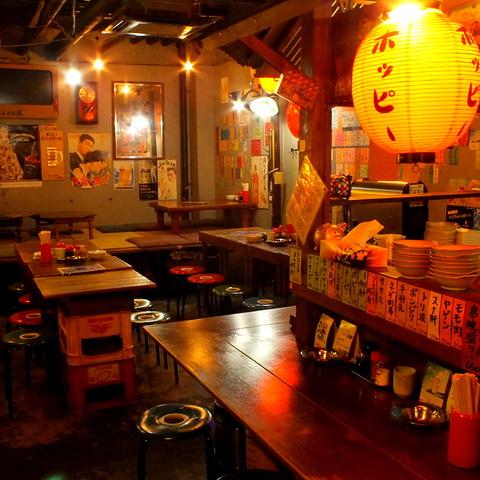 駅1分の地下1階の昭和レトロ空間☆新鮮な豚を焼師が焼く絶品やきとん!30名から貸切OK