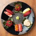 料理メニュー写真肉寿司9カン盛り合わせ