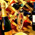 こぼれスパークリング&赤・白・数種類ワインビュッフェが+380円で飲み放題に追加♪女性限定コースでプレミアム飲み放題がなんと無料に!!スパークリング&ワインを飲むなら路地裏Grazieへ♪ご来店お待ちしてます!!