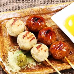 料理メニュー写真冠地鶏と錦雲豚の手造りつくね【タレor塩】