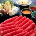 ロース牛、野菜盛り合わせ、うどんが全て食べ放題(120分)自家製のポン酢、ゴマダレでお召し上がり下さい。お肉は柔らかいのに食べごたえあり!!是非ご注文頂きまして、ご堪能下さいませ。各種宴会におすすめです♪