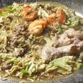 料理メニュー写真【4】新たに土手を作りながら、お好みの炊肉をお楽しみください♪