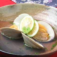 白ハマグリ(酒蒸し・焼き)