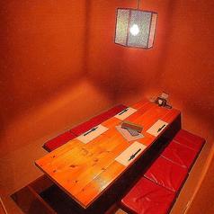 6名までOKの掘りごたつ個室も人気です