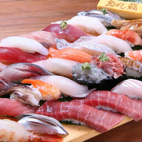 沼津魚市のセリ権を持つお鮨屋さん。アクセス◎の市野店でちょっと贅沢なお食事を…