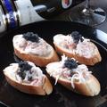 料理メニュー写真蟹カマクリームソースピンチョス キャビア添え