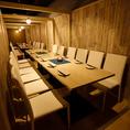 歓送迎会など大人数様でのご宴会にもご対応可能な大型個室を完備しております。雰囲気ある空間は各種宴会に!飲み会、宴会、接待、女子会など様々なシーンにおすすめです。お仕事帰りにもお気軽にお越しください。お席のみのご予約も◎!