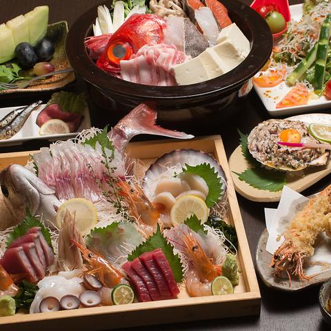 勝田・宴会・飲み放題・個室 美味しいお魚が揃ってます♪