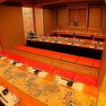 45名までOKの2階の完全個室は早めの予約がオススメ