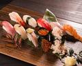 料理メニュー写真江戸前握り寿司 10貫(※味噌汁付き)】