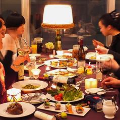 グループで、夜景を見ながらお食事できます