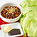 料理メニュー写真甘辛ひき肉のレタスラップ