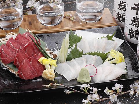 旬の魚介をお好みの食べ方で。合わせるお酒は蔵元直送の日本酒で!