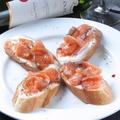 料理メニュー写真サーモンとヨーグルトのピンチョス