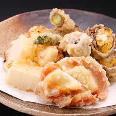 創作天ぷら 六種盛