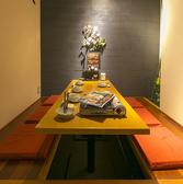 落ち着いた雰囲気の掘りごたつの個室のお席。