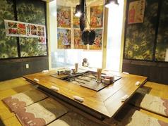 2階の奥の窓際の座敷は札幌でも珍しい空間になっております。こちらのお席は6~8名程度でお使いいただくのが最適です。