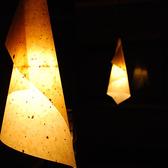和紙の照明が和みを感じます