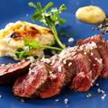 料理メニュー写真牛ハラミのステーキ エシャロットと柚子マスタード