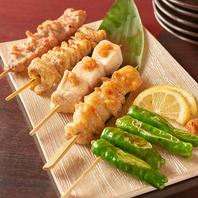串焼きは各2本からご提供してます。