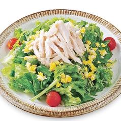 蒸し鶏と新鮮野菜のサラダ~自家製玉ねぎドレッシング~