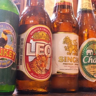 タイ料理に合う海外のお酒ご用意してます☆