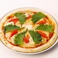 料理メニュー写真和風マルゲリータピザ