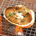 料理メニュー写真濃厚蟹みそ甲羅焼き