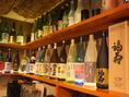 【日本酒】定番の品はもちろん、各地の地酒が豊富