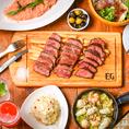 当店の肉バルメニューを取り揃えたお得な飲み放題付コースもご用意しております!宴会や誕生日会にも◎