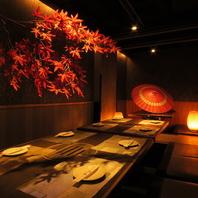【東梅田駅徒歩5分】個室でくつろぎながらお食事を…