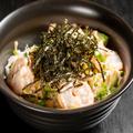 料理メニュー写真エビとアボカドの明太丼