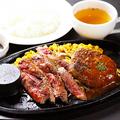料理メニュー写真≪BEEF100%≫ハンバーグ&牛ステーキセット