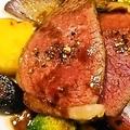料理メニュー写真岩手県産黒毛和牛いちぼ肉のロースト