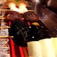 野菜も肉も、全て国産にこだわりました。串はひとつひとつ丁寧に焼き上げてご提供!鮮度の高い食材の味をご堪能ください。