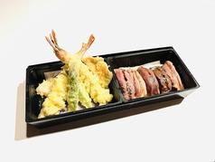特上肉寿司と大海老天婦羅御膳