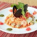 料理メニュー写真海の幸のトマトクリームリゾット~バジル風味~